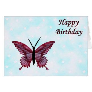 Carte d'anniversaire de papillon