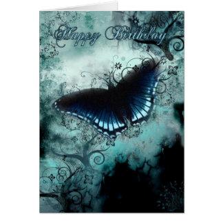Carte d'anniversaire de papillon - anniversaire