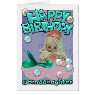 Carte d'anniversaire de petite-fille avec la