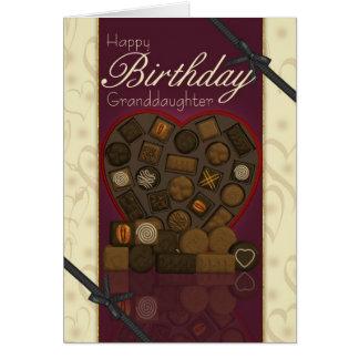 Carte d'anniversaire de petite-fille - chocolats