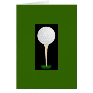 Carte d'anniversaire de pièce en t de golfeur