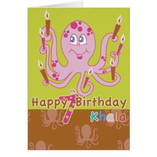 carte d'anniversaire de poulpe