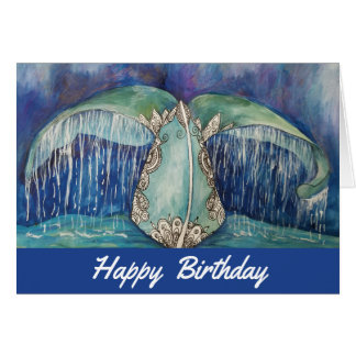 Carte d'anniversaire de queue de baleine