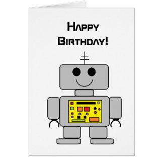 """Carte d'anniversaire de """"robot"""""""