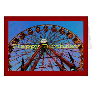 Carte d'anniversaire de roue de Ferris