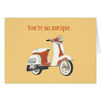 Carte d'anniversaire de scooter