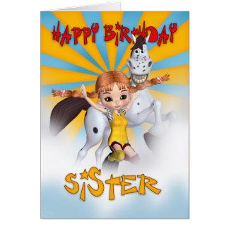 Carte d'anniversaire de soeur - bas de tarte de