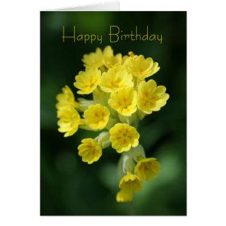 Carte d'anniversaire de souvenir - fleur sauvage -