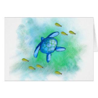 Carte d'anniversaire de tortue de mer
