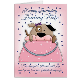 Carte d'anniversaire d'épouse - animal familier