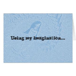 Carte d'anniversaire d'imagination pour l'enfant