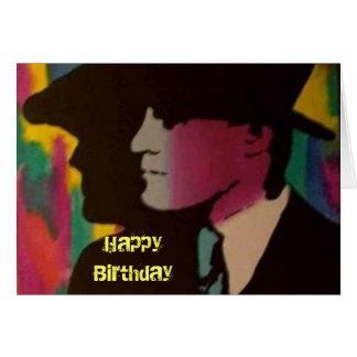 """Carte d'anniversaire """"d'ombres colorées"""""""