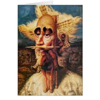 Carte d'anniversaire - Don don Quichotte