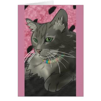 Carte d'anniversaire douce de Kitty