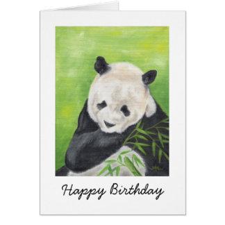 Carte d'anniversaire d'ours panda