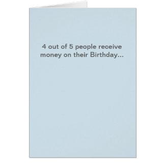 Carte d'anniversaire drôle