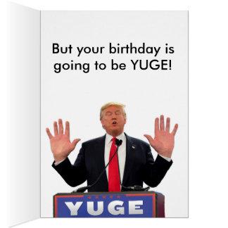 Carte d'anniversaire drôle de Donald Trump