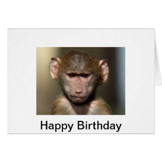 Carte d'anniversaire effrontée de singe -