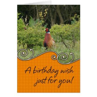 Carte d'anniversaire - faisan