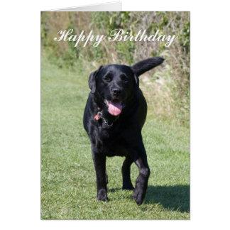 Carte d'anniversaire faite sur commande de chien