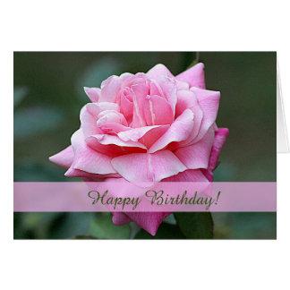 Carte d'anniversaire faite sur commande de rose de