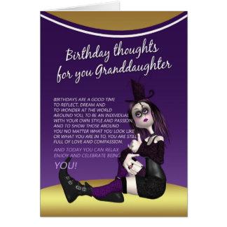carte d'anniversaire gothique de petite-fille -