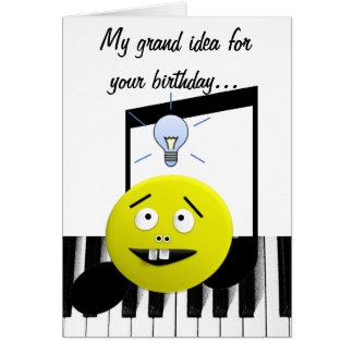Carte d'anniversaire grande d'idée