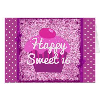 Carte d'anniversaire heureuse de sweet sixteen