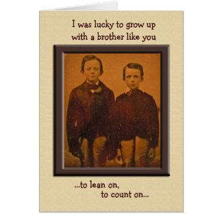 Carte d'anniversaire humoristique de frères