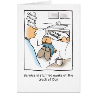 Carte d'anniversaire humoristique de plombier