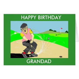 carte d'anniversaire jouante au golf drôle de papy