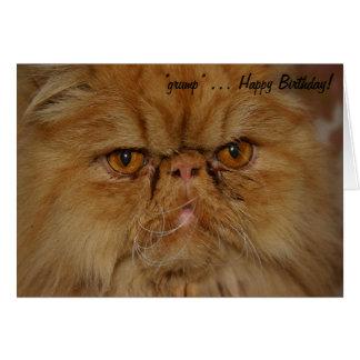 Carte d'anniversaire : Le chat le plus grincheux