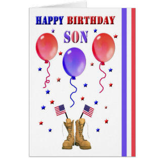 Carte d'anniversaire militaire de fils