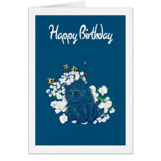 Carte d'anniversaire persane de chaton - ajoutez