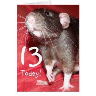 carte d'anniversaire personnalisable de rat