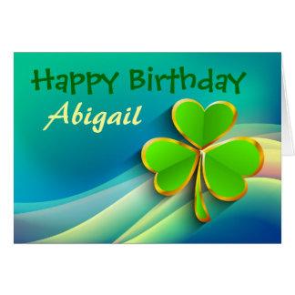 Carte d'anniversaire personnalisée par Irlandais