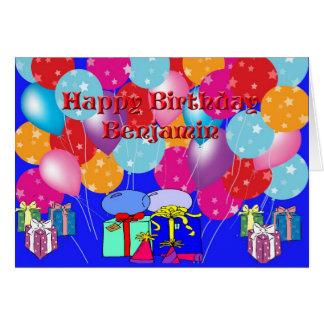 Carte d'anniversaire pour Benjamin