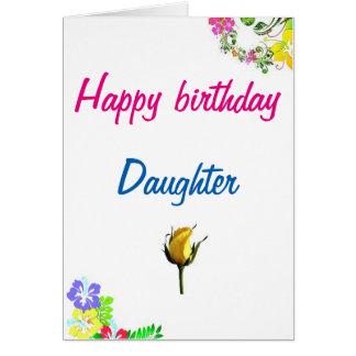 Carte d'anniversaire pour la fille