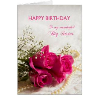 Carte d'anniversaire pour la grande soeur avec les