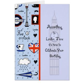 Carte d'anniversaire pour la personne à Londres