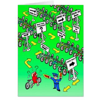 Carte d'anniversaire pour le cycliste - flic de