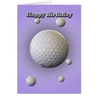 Carte d'anniversaire pour le golfeur