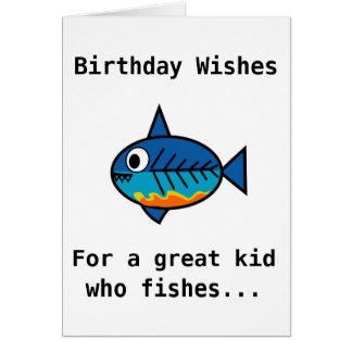 Carte d'anniversaire pour un grand enfant qui