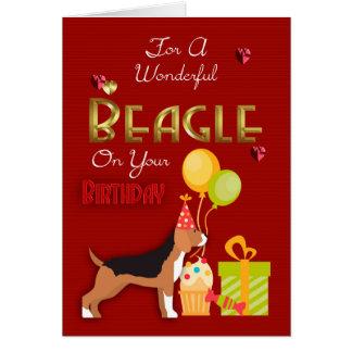 Carte d'anniversaire pour votre chien de beagle,