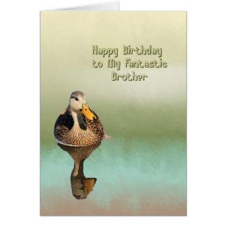 Carte d'anniversaire pour votre frère avec le