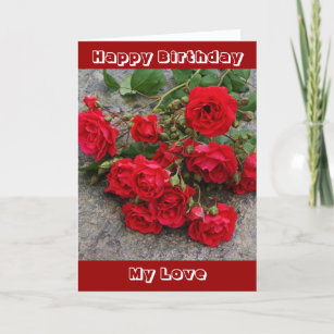 Carte anniversaire romantique