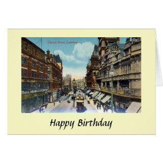 Carte d'anniversaire - rue d'église, Liverpool