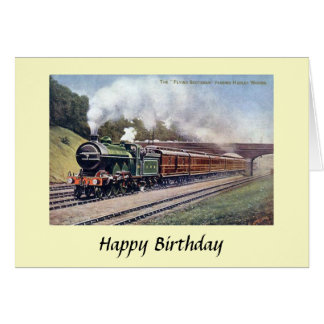 Carte d'anniversaire - Scotsman de vol