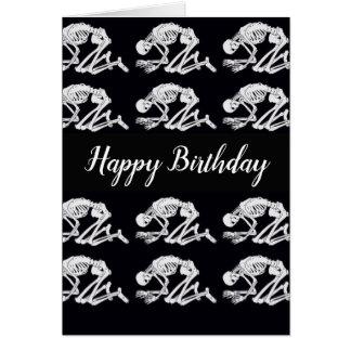 Carte d'anniversaire squelettique drôle