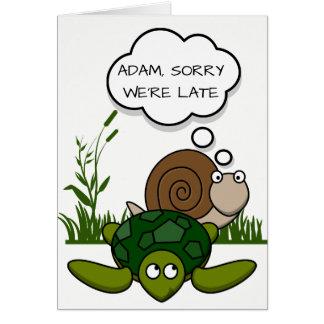Carte d'anniversaire tardive de coutume : Escargot